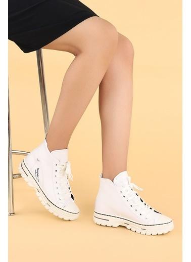Ayakland Ayakland 110 Cilt Günlük Termo Taban  Bayan Bot  Ayakkabı Beyaz